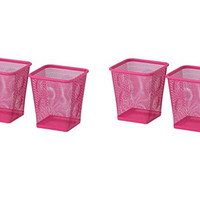 Ikea Steel Pencil Cup, Pack of 4, Pink