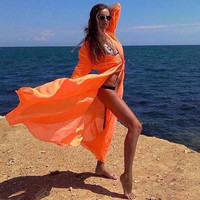Cover Up Chiffon Cardigan Blouse Shirt Bathing Suit Swimsuit Cover Up Swimwear Summer Beach Dress