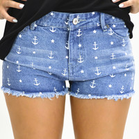 Sailor Girl Denim Shorts