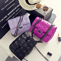 Bags Ladies Leather Chain One Shoulder Messenger Bags [6582054023]