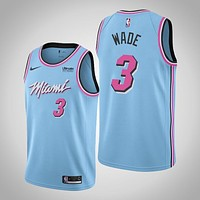 Men's Miami Heat Dwyane Wade Nike Blue 2019/20 Finished City Edition Swingman Jersey - Danny Online