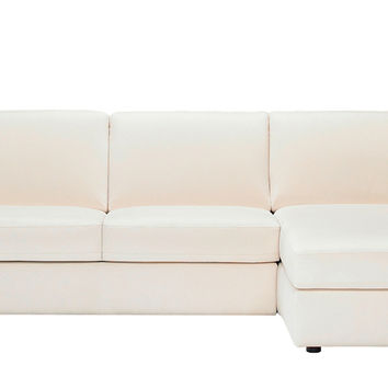 Chaise Sectional Leather Sleeper Sofa With Storage