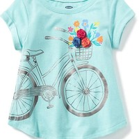 Rosette-Applique Graphic Tee for Toddler Girls | Old Navy