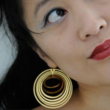 Large Concentric Earrings