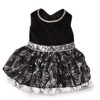 East Side Collection Polyester Glam Dog Dress, X-Small, 10-Inch, Silver