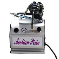 Airbrush Compressor Kit for Icing Cakes and Makeup Nail Tatoo   white