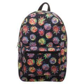 Rick and Morty Cosmic Psychedelic Expressions Sublimated Backpack