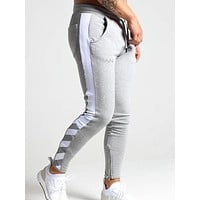 New Sweatpants Men'S Solid Workout Bodybuilding Clothing Casual GYMS Fitness Sweatpants Joggers Trousers Pencil Pants