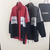 ''BALENCIAGA'' Women Men Fashion Zipper Cardigan Sweatshirt Jacket Coat Windbreaker Sportswear