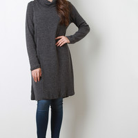 Turtleneck Longline Loose Knit Top
