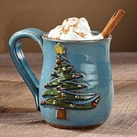 JoAnn's Handcrafted Holiday Christmas Tree Mug
