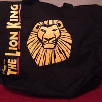 The Lion King Black Zippered Tote Bag 19""