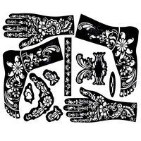 2pcs 38*29cm Large Henna Tattoo Stencils For Painting,Temporary Mehndi Templates Stencil Indian Henna Tattoo For Hand Body Paint