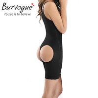 Burvogue Women Bodysuit Black Full Body Shaper Weight Loss Slimming Body Waist Shaper Tummy Trimmer Underwear Butt Lifter Firm