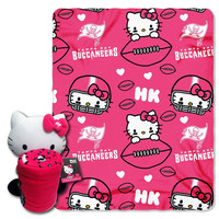Tampa Bay Buccaneers NFL Hello Kitty with Throw Combo
