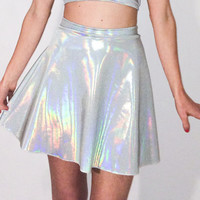 Holographic Skater Skirt
