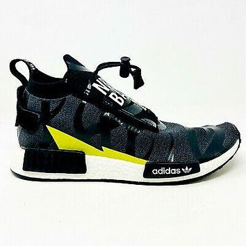 adidas NMD TS1 Bape x Neighborhood Stealth Black Yellow Mens Size 10 EE9702
