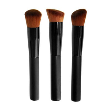 2017 New arrival Professional Makeup brushes sets 3PCS Beauty Soft Face Powder Foundation Blusher brush Pincel maquiagem Black