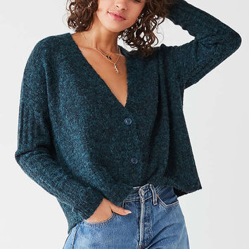 UO Fuzzy Button-Down Cardigan   Urban Outfitters