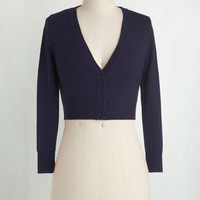 Americana Short Length 3 The Dream of the Crop Cardigan in Navy