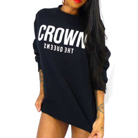 QUEENS — Crown Crew - Black
