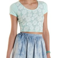 Daisy Lace Crop Top by Charlotte Russe