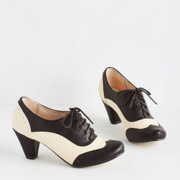Menswear Inspired Cause for Collaboration Heel in Monochrome