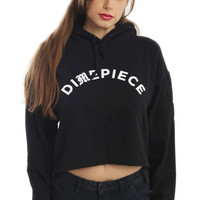 Dimepiece, Old English Cropped Hoodie - Black - Dimepiece - MOOSE Limited