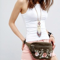 New Look Festival Embroidered Fanny Pack at asos.com