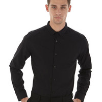 Black Slim Fit Shirt - Mens Slim Fit Shirts - Mens Shirts - Clothing