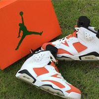Air Jordan 6 Retro Like Mike Gatorade Summit White/Black-Team Orange AJ6 Sneakers - Best Deal Online