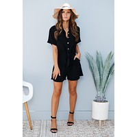 Work Harder Romper (Black)