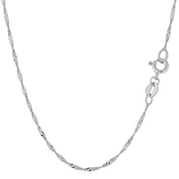 10K White Gold Singapore Chain - Width 1.5mm