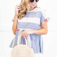 Peppy And Preppy Top, Navy