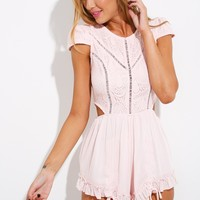 Candy Girl Playsuit Baby Pink