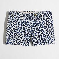 """Factory 3"""" printed stretch chino short : 3"""" 