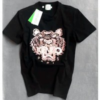 KENZO Unisex Casual Embroidery Short Sleeve Shirt Tee Top Blouse G-A-GHSY Tagre™