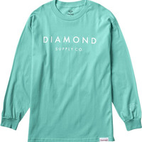 Diamond Stone Cut Longsleeve Large Diamond Blue