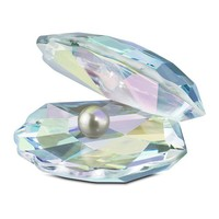 Swarovski Light Blue Color Crystal Figurine Small SHELL WITH PEARL #1120198