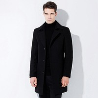 High Quality Men Wool Blends Cardigan Jacket Coat
