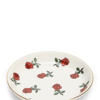 Ceramic Rose Graphic Jewelry Dish