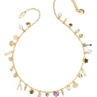 Gold Multi Mini Love Charm Necklace by Juicy Couture, O/S