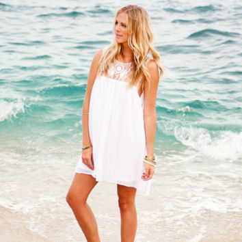 Show Me Your Mumu White Baskin Mini Dress