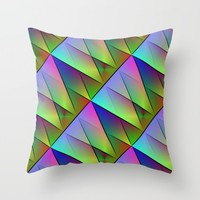 Abstract#10 Throw Pillow by RokinRonda