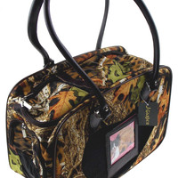 Pet Carrier Travel Bag Real Tree Camo Leaves Softsided Shoulder Airline Approved