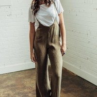 Olive Bell Bottom Jumpsuit