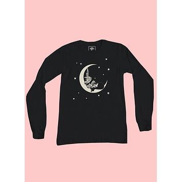 Over The Moon Long Sleeve Top
