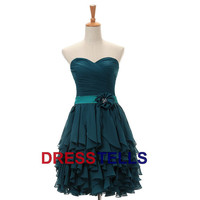 Attractive Cheap Charming Sweetheart Short /Mini Bridesmaid dress/ Homecoming /Sweet 16//Prom Dresses/Celebrity Dress/Party Dresses DT100057
