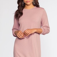 Destiny Sweatshirt Dress - Rose