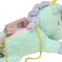Strapya World : Sanrio Little Twin Stars Cotton Candy Blue Unicorn Pouch